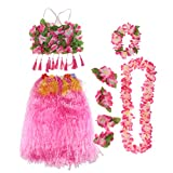 Gazechimp 8 / Set Hawaiisches Kostüm-Set - Rosa, 80cm