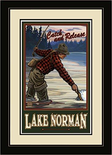 Northwest Art Mall EFF Lake Norman North Carolina gerahmtes Wandbild Art von Künstler Paul A. lanquist, 40,6x 55,9cm