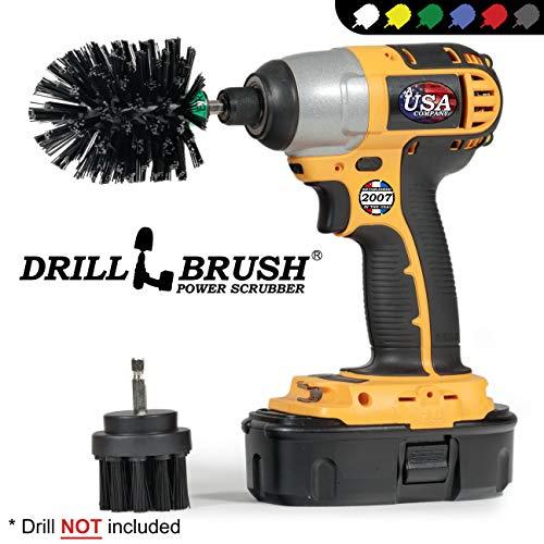 Drillbrush 2 piezas de tamaño mini Black Ultra Stiff es rotatorio de limpieza utilizados para la limpieza...