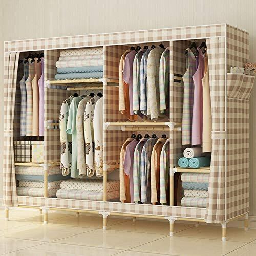 Olydmsky armadio tessuto,armadio ampio in tessuto legno massello oxford armadio componibile pieghevole armadio semplice e moderno