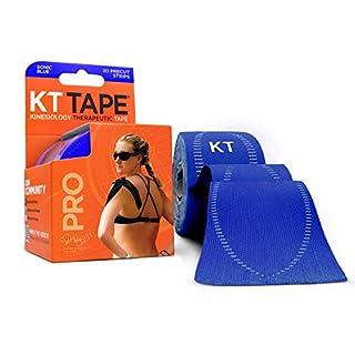 KT Tape Pro Lot de 20 Bandages prédécoupés Bleu sonique