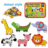 BBLIKE wooden jigsaw puzzle, 6-IN-A-BOX cartoon wooden puzzle toy Children