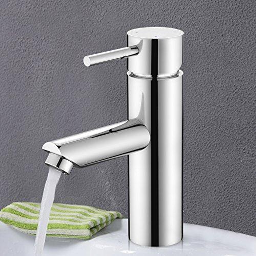 Tout cuivre chaud et Bassin d'eau froide Robinet salle de bain au lavabo Robinet scène Bathroom Faucet Basin contre ( couleur : All Copper )