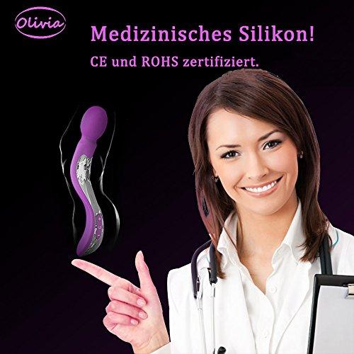 Olivia Einzigartige S Form Design Vibrator Wand Massager mit 7 Vibrationsmodi, Wand Massagegerät Vibratoren für sie Klitoris und G-punkt mit stoßfunktion groß xxl, sexspielzeug für frauen und paare ,100% Wasserdicht, Akkubetrieb, leise - 4
