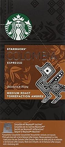 Starbucks Colombia Espresso Capsules, Nespresso* Compatible(Pack of 12,Total 120 capsules)