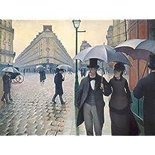 Gustave Caillebotte - Calle De Paris, Día De Lluvia, 1877, 2 Partes Póster Fotomural (240 x 180cm)