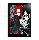 Ryuk di Death Note (di Tsugumi Oba e Takeshi Obata) - Quadro Pop-Art Originale con Cornice, Dipinto, Stampa su Tela, Poster, Locandina, Anime, Manga