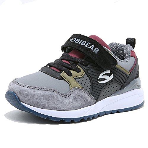 Sneaker Kinder Hallenschuhe Jungen Laufschuhe Mädchen Schulsport Outdoor Sportart Schuhe für Unisex-Kinder Grau 34