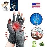 Guanti per l'artrite,Nuovo materiale,Compressione per l'artrite Sollievo dal dolore Osteoartrosi reumatoide e tunnel carpale, compressione premium e guanti senza dita.(Grande)