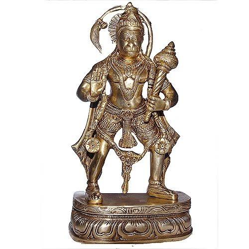 Lord Hanuman Messing Statue in stehender Haltung