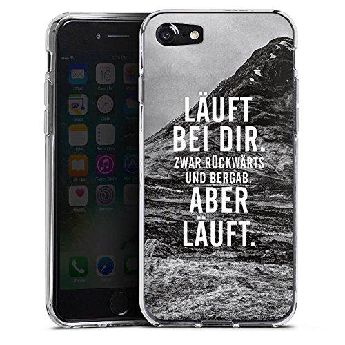 Apple iPhone SE Hülle Case Handyhülle Läuft Bei Dir Sprüche Statements Silikon Case transparent