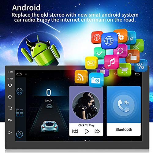Gmxop Android 8.1 GPS Navigation Car Stereo Radio Double Din 7 Inch Multimedia Bluetooth WiFi Navigator (Navigation Car Din Double Stereo)