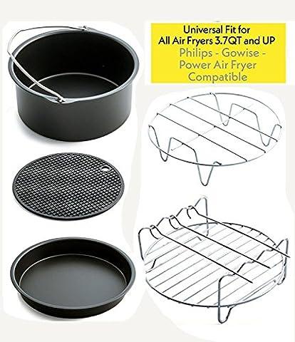 JHZH -- 5 Stücke Air Fryer Zubehör Kit für Gowise,Phillips,Tristar ,Princess 3.0 L über Luft Fritteuse,Kann in der Spülmaschine gereinigt