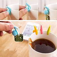 HITSAN 5pcs Cute Snail Mini Tea Bag Holder Hanging Cup Clip One Piece