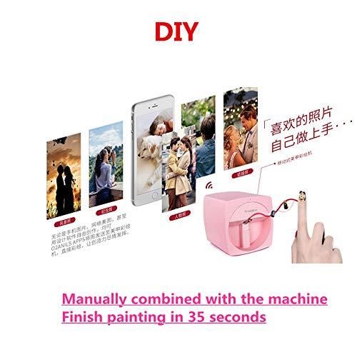 Impresora de uñas 3D portátil máquina de pintura de uñas automática móvil inalámbrico completo inteligente impresora de uñas