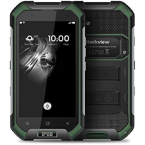 Blackview BV6000 4.7 Pollici 1280*720 Pixel Android 6.0 Smartphone IP68 Impermeabile MT6755 Octa-core 2.0GHz 3GB di RAM 32GB ROM 2G / 3G / 4G FDD-LTE All'aperto Cellulare (Verde) - B / N Luce Di Emergenza
