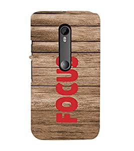 PrintVisa Motivational Quotes Design 3D Hard Polycarbonate Designer Back Case Cover for Motorola Moto G3
