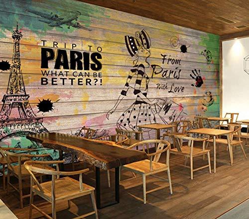 GBHL 3d wallpaper Retro Hocker nostalgische Mode Beauty Hintergrund Fototapete Restaurant Studio Bar Tapete, 300x210 cm (118.1 by 82.7 in) -