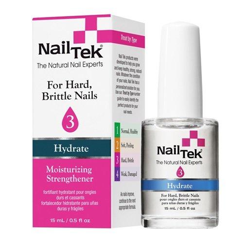 Nail Tek Moisturizing Strengthener 3 Hydrate - For Hard Brittle Nails 15ml/0.5oz by Nail Tek -
