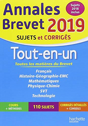 Annales Brevet 2019 Tout-en-un par Brigitte Réauté
