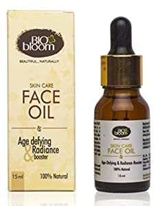 Biobloom Face Oil - Age Defying & Radiance Booster - 100% Natural, 15 ml