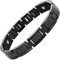Magnetisches Armband Titan Karbonfaser graphit Größe verstellen Werkzeug und Geschenkbox von Willis Judd enthalten preisvergleich bei billige-tabletten.eu