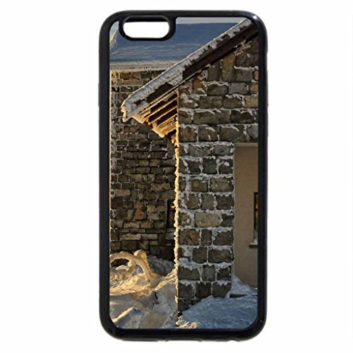 iPhone 6S / iPhone 6 Case (Black) gorgeous mountain lodge in winter