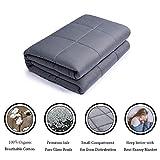Premium Gewichtete Decke Verbessert Schlafs für Kinder & Erwachsenen | Grau Baumwolle |...