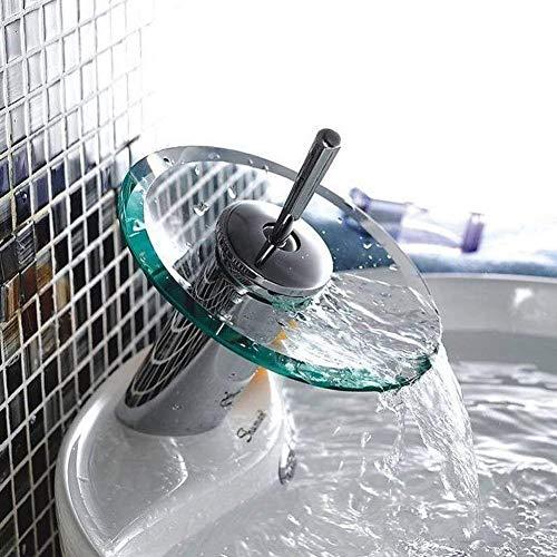 Samger Glas Becken Wasserfall Single Hebel Rührgerät Zapfhahn Sinken Designer Heiß, kalt Wasserhahn zum Badezimmer Küche Zuhause