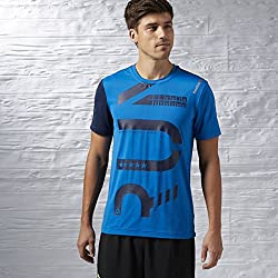 Reebok OSR SS AC tee - Men's T-Shirt, Blue Color, Size M