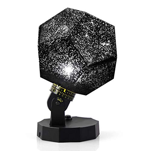 Hoovo Cosmos Star Night Light Proyector Lampara Rotación de 360 ° con 5 colores 12 Constelaciones Phantom Light para decoraciones espaciales