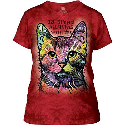 The Mountain Damen T-Shirt Nine Lives M (T-shirts Mountain Life)