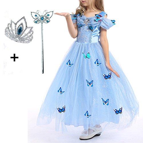 LiUiMiY Prinzessin Kleid Kinderkleidung Mädchen Kleid Performance Kleidung Kostüm Verkleidung Weihnachten Partei Geschenk für 3-9Jahre (Kleidung Weihnachten)