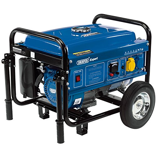 Draper 87088 Benzin Generator mit Rädern, 230 W, 2.5 V, Mehrfarbig (Rad Für Den Generator)