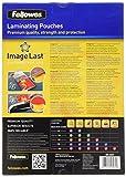 Fellowes 53074 - Pack de 100 fundas de plastificar, brillo, formato A4, 125 micras