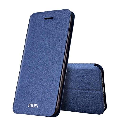 Hülle für iPhone 7 plus , Schutzhülle Für iPhone 7 Plus Verrückte Pferd Textur Horizontale Flip Leder Tasche mit Halter ,hülle für iPhone 7 plus , case for iphone 7 plus ( Color : Pink ) Dark Blue