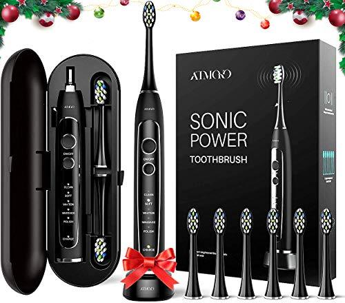 Brosse à Dents Sonique Electrique ATMOKO, 5 Modes et 6...