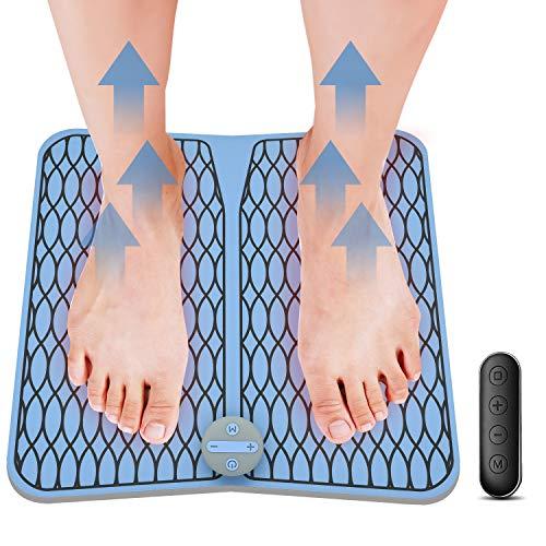 Masajeador de Pies Vigorun Pulsos de Baja Frecuencia Estimulación Muscular Eléctrica (EMS) Cojín de Masaje de Pies Fisioterapia Inteligente para Mejorar la Circulación Sanguínea