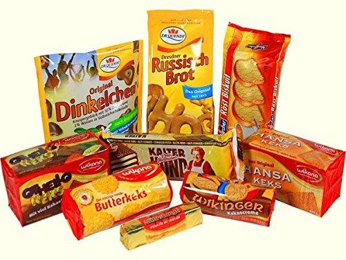 Keks Gebäck Spezialitäten   GRATIS DDR Geschenkkarte   Ostprodukte  Ideal für jedes DDR Geschenkset   DDR Traditionsprodukt und Ossi Kultprodukt   Ossi Artikel