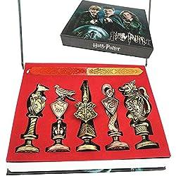 Cera Antigua Harry Potter estéreo, Pintura metálica, Sello, Set de Cera de Sellado, Kit de colección de Cera para esconder Color pudlard en Caja de Regalo