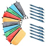 Multi-purpose Tools Zipper Bags. 5 or 10-pack Including Blue Recycled Pens (10-Pack)