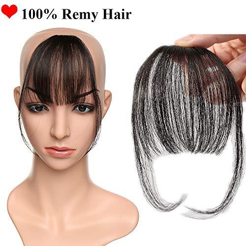Sego hair bang air sottile frangia capelli umani con clip invisibile extension one piece veri remy human hair fringe - nero naturale