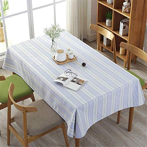 Kostüm Einfach Ketchup - SONGHJ Baumwolle Leinen Einfache Streifen Bonbonfarben Tischdecken Rechteck Weihnachtsfeier Tischdecken Heimtextilien Tischdecke B 60 × 90 cm