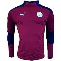 Manchester City F.C. Men's Official Puma 1/4 Zip Top Pullover