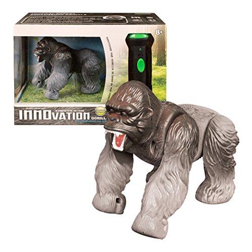 Global Gizmos 54650Akku betrieben Infrarot Taschenlampe Fernbedienung Silber Rückseite Gorilla Lichter und Sound Spielzeug -