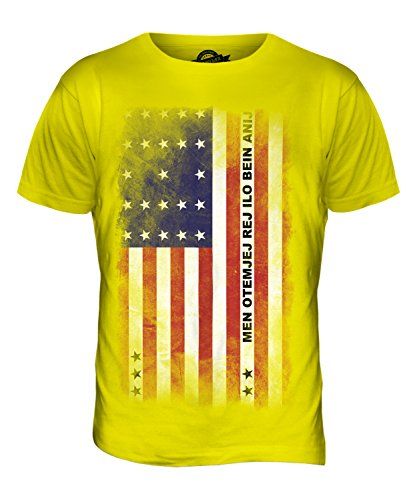 CandyMix Bikini-Atoll Verblichen Flagge Herren T Shirt Zitronengelb