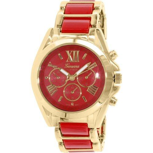 Rot Gold Römische Zahl Armbanduhr Designer Mode Frauen Geneva Boyfriend W/Parfüm Damen-boyfriend-uhr-gold