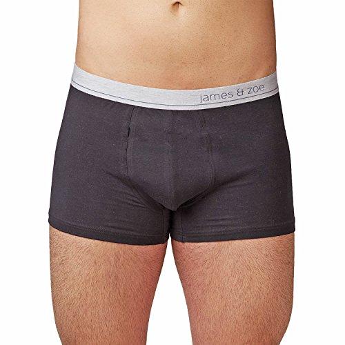 Herren Boxershorts / Pants Premium aus feiner Baumwolle-Elasthan-Mischung - Männer Unterhosen mit max. Formstabilität - Farbe Schwarz - Größe M (Baumwoll-mischung Feiner)