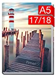 Chäff-Timer Classic A5 Kalender 2017/2018 Leuchtturm 18 Monate Juli 2017-Dezember 2018 - Terminkalender mit Wochenplaner - Organizer - Wochenkalender