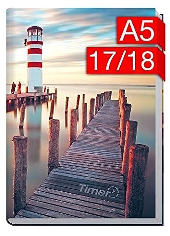 Chäff-Timer Classic A5 Kalender 2017/2018 [Leuchtturm] 18 Monate Juli 2017-Dezember 2018 - Terminkalender mit Wochenplaner - Organizer - Wochenkalender